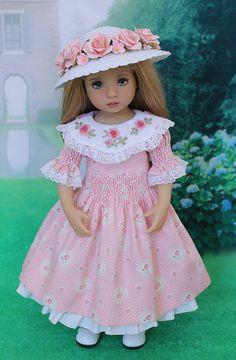 """Smocked Dress Ensemble for Effner 13"""" Little Darling Dolls"""