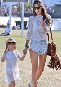 Alessandra Ambrosio - Coachella fashion