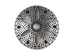 2 Metal Buttons Silver Metal Petal 1 inch 25 mm by ButtonJones, $4.20