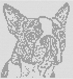 Chella Crochet Pattern Boston Terrier Dog Afghan by