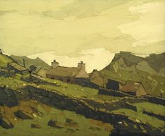 By Sir Kyffin Williams, R.A. - Welsh Landscape painter born in Anglesey