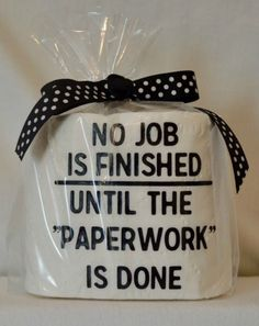 'No Job is Finished'