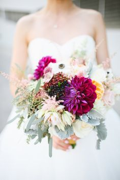 bridal bouquet; photo: Adrienne Gunde Photography