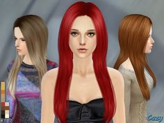 The Sims Resource: Over The Light Hairstyle by Cazy • Sims 4 Downloads