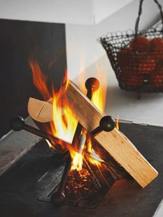 Fire Pit Landscaping, Fire Basket, Welding And Fabrication, Light My Fire, Wood Burner, Metal Projects, Wood Storage, Fireplace Design, Blacksmithing