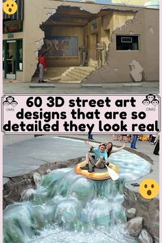 3d Street Art, Double Take, Animals And Pets, Life Hacks, Amazing, Awesome, Entertaining, Humor, Art Designs