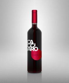 Cacciaro Wines - Logo and wine bottle label design by Luca Frank Guarini, via Behance  wine / vinho / vino mxm