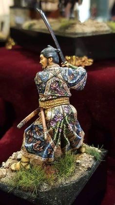Now this is some freehand on these Japanese Samurai robes. - Now this is some freehand on these Japanese Samurai robes. Warhammer Models, Warhammer Fantasy, Warhammer Figures, Samurai Art, Samurai Warrior, Fantasy Model, Fantasy Art, Arte Ninja, 3d Figures