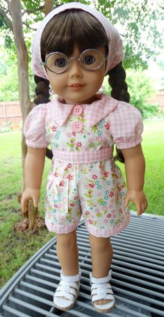 18 Doll Clothes Summer Romper / Playsuit Fits by Designed4Dolls