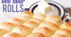 One Hour Rolls! Light, fluffy, buttery, and easy to make. A family favorite dinner roll recipe ready in one hour!