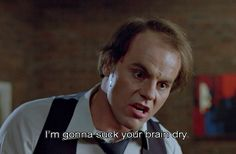 Michael Ironside in SCANNERS (1981) directed by David Cronenberg