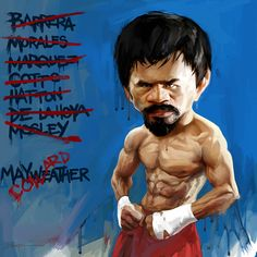 I don't do caricatures very often but I had a lot of fun with this one, my favorite boxer, Manny Pacquiao! I hope you guys dig it. -b The Filipino Fist