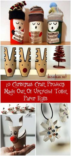 Toilet paper rolls advent calendar Love this easy project and the raw carton colors he kept. You may have found your next original Christmas calendar. ++ Complete tutorial on Morning creativity Songsters to spread holiday cheers One of our favorite… Recycled Christmas Decorations, Christmas Craft Projects, Holiday Crafts, Spring Crafts, Christmas Toilet Paper, Toilet Paper Roll Crafts, Christmas Diy, Reindeer Christmas, Kids Crafts