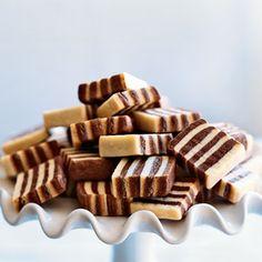 Chocolate and Vanilla Stripe Cookies.