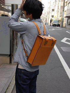 lovely leather backpack