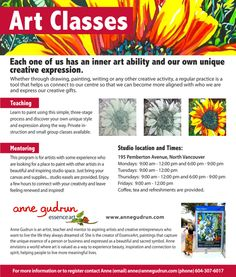 Pamphlet Design For Art And Craft Classes
