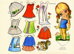 This From - MaryAnn - Álbuns da web do Picasa All Paper, Paper Art, Paper Crafts, Paper Dolls Printable, Vintage Paper Dolls, Little Doll, Retro Toys, Sweet Memories, Paper Toys