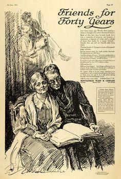 1913 Ad Montgomery Ward Department Store Charles Dana Gibson Art Elderly TLW1