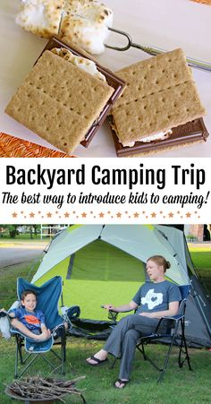 A Backyard Camping Trip The Best Way to Introduce Kids to the Camping Experience! is part of Kids Crafts Summertime Camp - What's the best way to properly prepare kids for a real camping experience Plan a fun backyard camping trip for kids!