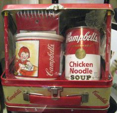 Campbell Soup Lunch Box W/Mug, Tablet 2 Pencils & Chicken Noodle Soup (Rare)
