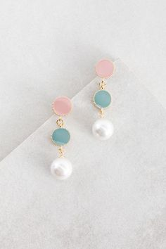 Round Moments of Pearl Earrings $14