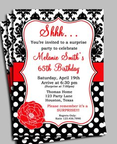 36 awesome birthday invitation template for adults images birthday damask polka dot invitation printable birthday by thatpartychick 1500 stopboris Gallery