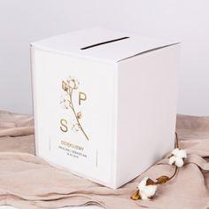 PUDŁO na telegramy z personalizacją Kwiaty Bawełny Tissue Holders, Facial Tissue, Container, Products, Alcohol, Gadget