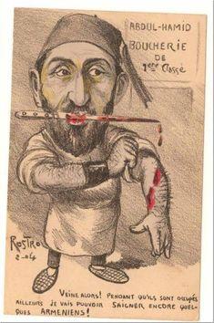 ermeniler ile ilgili bir başka abdülhamid karikatürü;