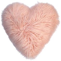 Celebrate Valentine's Day Together Heart Shaped Faux Fur Plush Back... ($18) ❤ liked on Polyvore featuring home, home decor, throw pillows, pink, heart throw pillow, colored throw pillows, pink home decor, heart home decor and pink accent pillows