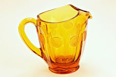 Pitcher Fostoria Glass Fostoria Coin Glass by FindsFromYesteryear