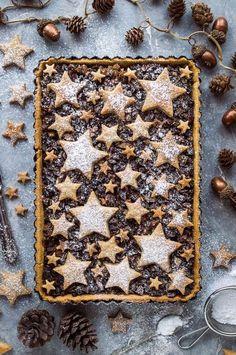 Vegan Christmas, Christmas Cooking, Christmas Desserts, Christmas Treats, Christmas Pies, Christmas Decorations, Decoration Patisserie, Shortcrust Pastry, Xmas Food