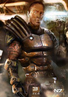 Mass Effect 3 - Zaeed Massani by patryk-garrett on deviantART