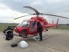 Sony F65 aerial shoot with Helicopter Film Services - at Denham Aerodrome