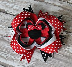 Hair Bows | Polka Dot Mouse Bow - $2.99
