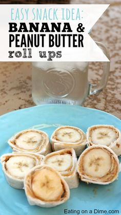 I have a fun and easy after school snack idea - try making these delicious Banana & Peanut Butter Roll ups.