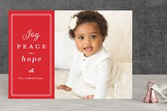 trim type Christmas Photo Cards by lena barakat at minted.com