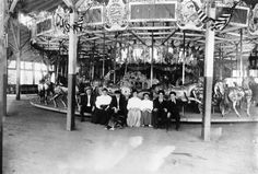 Charles Looff Family, Charles I. D. Looff - American immigrant master-carver and carousel builder (also roller coasters and other amusement rides). Looff built the first carousel at Coney Island in 1876. He manufactured more than 50 carousels, several amusements parks, roller coasters and Ferris wheels. Looff built a number of amusement piers and hippodromes along the California coast including the famous Santa Monica Pier.