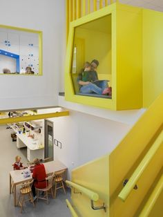 Sjötorget Kindergarten by Rotstein Arkitekter Colour Play Stimulates Children's Creativity  Located in Stockholm, Sjötorget kindergarten by Rotstein Arkitekter is bursting with colour. The architects say they envisioned a playful environment that would play its part in encouraging and inspiring the creativity of children.