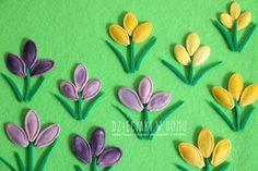 wiosenne krokusy - praca plastyczna dla dzieci