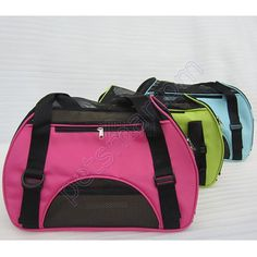 Pet Carrier Dog Tote Bag Cat Puppy Handbag Cage Pouch Rose Hot Pink Blue Green 43X20X32CM XDRY-T112 $10
