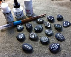 Little Painted Pebbles by MagaMerlina, via Flickr
