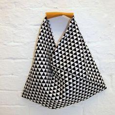 Die Origami-Bag: 30 Minuten Tasche für Anfänger. Version aus 1 Stück Stoff (Boho Top Tutorial)
