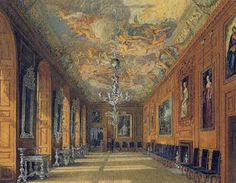 Silver Lining?: Windsor Castle -- the Queen's Ballroom. Note the solid silver furniture along the wall.