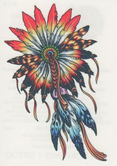 Native American Indian Dream Catcher Feathers Temporary Tattoo Made in Usausa | eBay