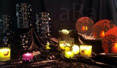 #homedecor #spooky #candles #PartyLite #Halloween #candleparties #tealights #Shannathatflaminglady #photography #votives