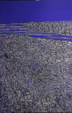 01-Devrim ERBİL (1937)  Tuval üzerine yağlıboya, imzalı. 2013 tarihli.  140 x 90 cm  35.000 TL