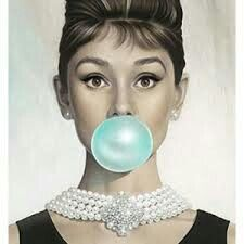 Audrey Hepburn &Tiffany Blue