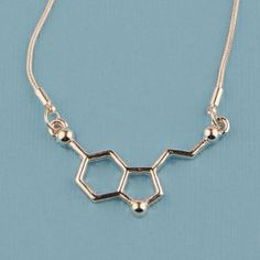 Serotonin Molecule Necklace  So much want... I need to add to my nerdy jewelry collection.