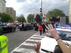 The crowd was pretty lively at the corners of Connecticut Ave,  T Street and Columbia Road NW as stars of sports, entertainment, news mingled with political power brokers arrived for the 2014 Washington Correspondents Dinner.