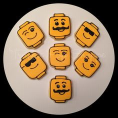 Lego Head Cookies - Truffle Pop Shoppe | Cookie Connection